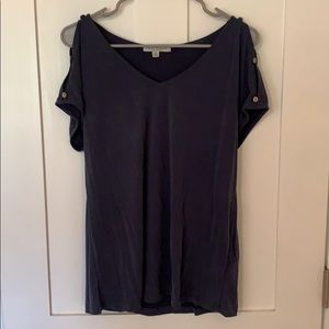 Super soft open shoulder tee